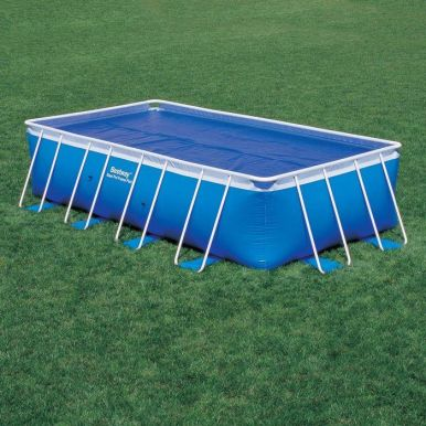 solar pool cover for 12ft round metal frame pools pool covers summer. Black Bedroom Furniture Sets. Home Design Ideas