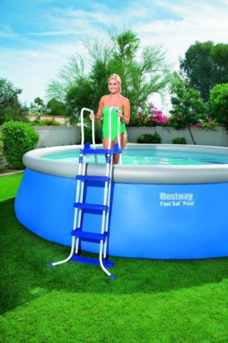 bestway hydrium pool package 10ft x 48 56563 metal frame round pools. Black Bedroom Furniture Sets. Home Design Ideas