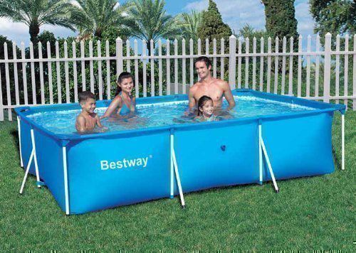 Rectangular frame paddling pool 118 bestway swimming pools for Paddling pool filter
