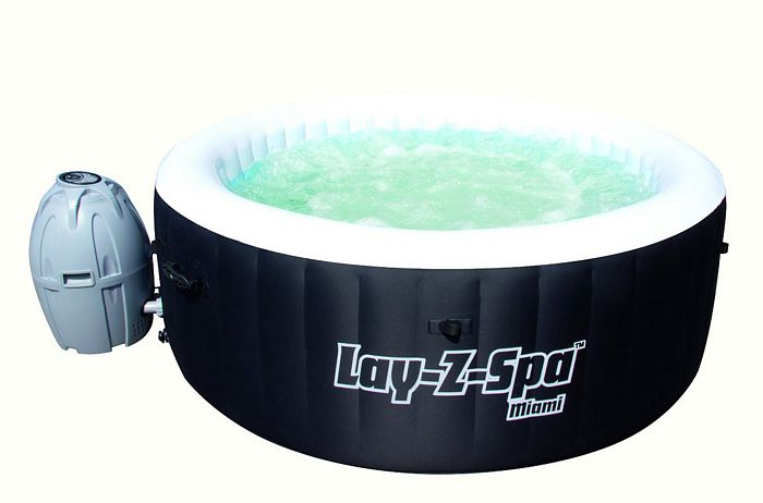 lay z spa miami inflatable hot tub inflatable hot tubs. Black Bedroom Furniture Sets. Home Design Ideas