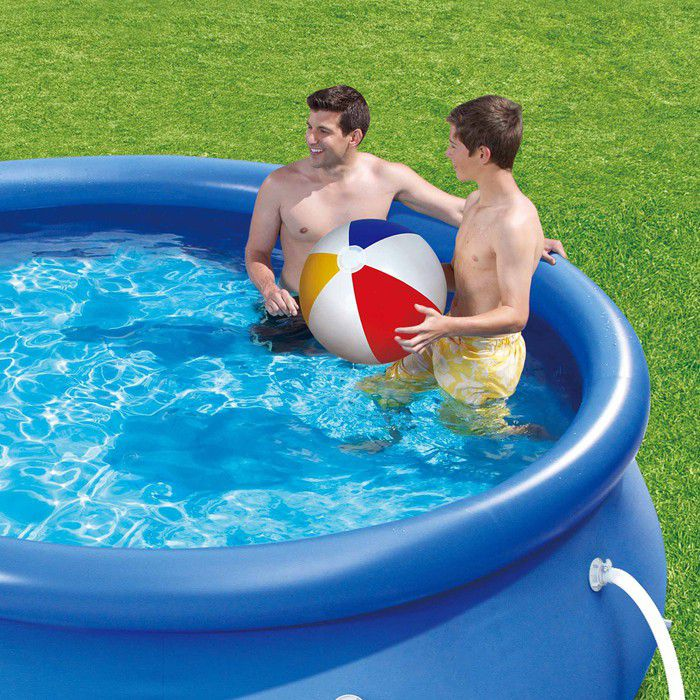 Summer escapes quick set round inflatable pool 10ft x 30 - Inflatable quick set swimming pool ...